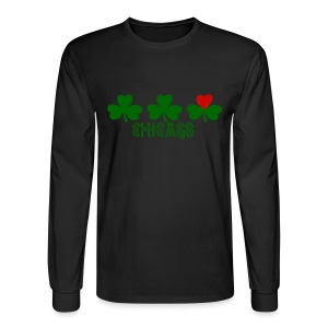 Chicago Shamrock Heart - Men's Long Sleeve T-Shirt