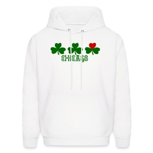 Chicago Shamrock Heart - Men's Hoodie