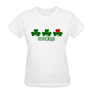 Chicago Shamrock Heart - Women's T-Shirt