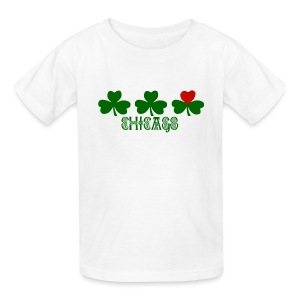 Chicago Shamrock Heart - Kids' T-Shirt