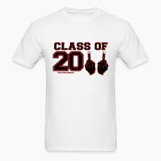 class 2011 finger FU Black and Red T-Shirts