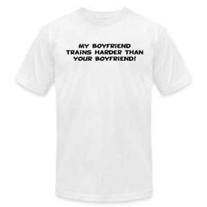 My Boyfriend Trains Harder - Men's Fine Jersey T-Shirt