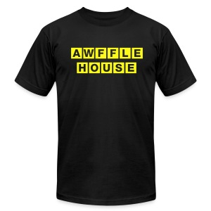 Awffle House Black [M] - Men's T-Shirt by American Apparel
