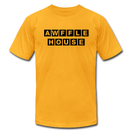 T-Shirts ~ Men's T-Shirt by American Apparel ~ Awffle House Yellow [M]