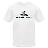 T-Shirts ~ Men's T-Shirt by American Apparel ~ Bleed Teal Patty Men's White AA Tee