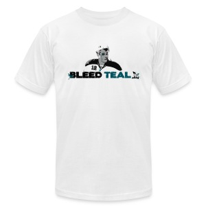 Bleed Teal Patty Men's White AA Tee - Men's T-Shirt by American Apparel