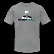 T-Shirts ~ Men's T-Shirt by American Apparel ~ Bleed Teal Patty Men's Slate AA Tee
