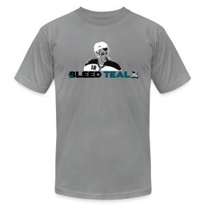 Bleed Teal Patty Men's Slate AA Tee - Men's T-Shirt by American Apparel