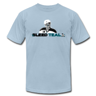 T-Shirts ~ Men's T-Shirt by American Apparel ~ Bleed Teal Patty Men's Light Blue AA Tee