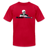 T-Shirts ~ Men's T-Shirt by American Apparel ~ Bleed Teal Patty Men's Light Blue AA Tee