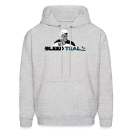 Hoodies ~ Men's Hoodie ~ Bleed Teal Patty Men's Ash Hoodie