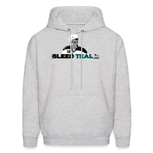 Bleed Teal Patty Men's Ash Hoodie - Men's Hoodie