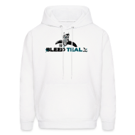 Hoodies ~ Men's Hoodie ~ Bleed Teal Patty Men's White Hoodie
