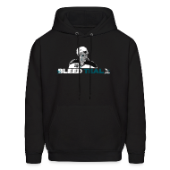 Hoodies ~ Men's Hoodie ~ Bleed Teal Patty Men's Black Hoodie