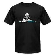 T-Shirts ~ Men's T-Shirt by American Apparel ~ Bleed Teal Patty Men's Black AA Tee