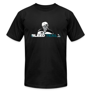 Bleed Teal Patty Men's Black AA Tee - Men's T-Shirt by American Apparel