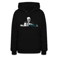 Hoodies ~ Women's Hoodie ~ Bleed Teal Patty Women's Black Hoodie