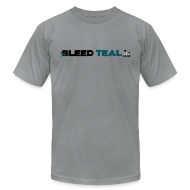 T-Shirts ~ Men's T-Shirt by American Apparel ~ Bleed Teal Men's Slate AA Tee