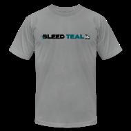 T-Shirts ~ Men's T-Shirt by American Apparel ~ Bleed Teal Men's Slate AA Tee