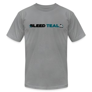 Bleed Teal Men's Slate AA Tee - Men's T-Shirt by American Apparel