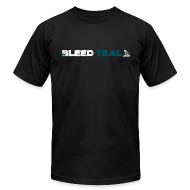 T-Shirts ~ Men's T-Shirt by American Apparel ~ Bleed Teal Men's Black AA Tee
