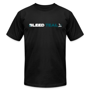 Bleed Teal Men's Black AA Tee - Men's T-Shirt by American Apparel