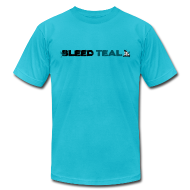 T-Shirts ~ Men's T-Shirt by American Apparel ~ Bleed Teal Men's Teal AA Tee