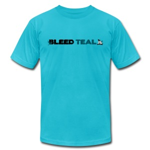 Bleed Teal Men's Teal AA Tee - Men's T-Shirt by American Apparel