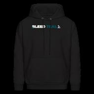 Hoodies ~ Men's Hoodie ~ Bleed Teal Men's Black Hoodie