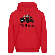 Hoodies ~ Men's Hoodie ~ The Eh Team Men's Red Hoodie