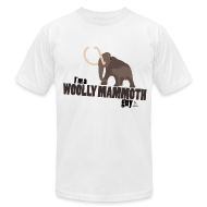 T-Shirts ~ Men's T-Shirt by American Apparel ~ Wooly Mammoth Guy Men's White AA Tee