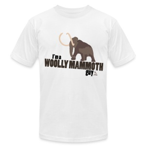 Wooly Mammoth Guy Men's White AA Tee - Men's T-Shirt by American Apparel