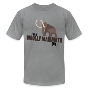 Wooly Mammoth Guy Men's Slate AA Tee - Men's T-Shirt by American Apparel