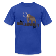 T-Shirts ~ Men's T-Shirt by American Apparel ~ Wooly Mammoth Guy Men's Navy Blue AA Tee
