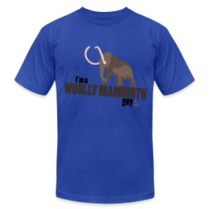 Wooly Mammoth Guy Men's Navy Blue AA Tee - Men's T-Shirt by American Apparel