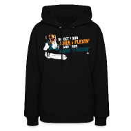Hoodies ~ Women's Hoodie ~ Niemi T-Rexin Women's Black Hoodie