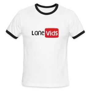 LaneVids White Ringer - Men's Ringer T-Shirt