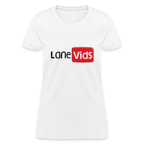Womens LaneVids White - Women's T-Shirt