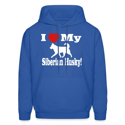 I Love My Siberian Husky! Men's Hoodie - Men's Hoodie