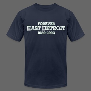 Forever East Detroit Men's American Apparel Tee - Men's T-Shirt by American Apparel