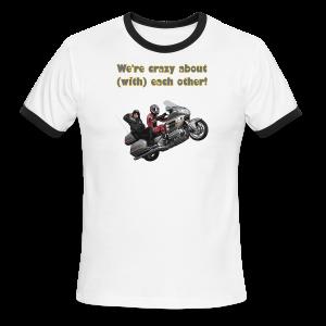 Men's L/W Ringer T-Front-neon-wingwheelie crazy - Men's Ringer T-Shirt