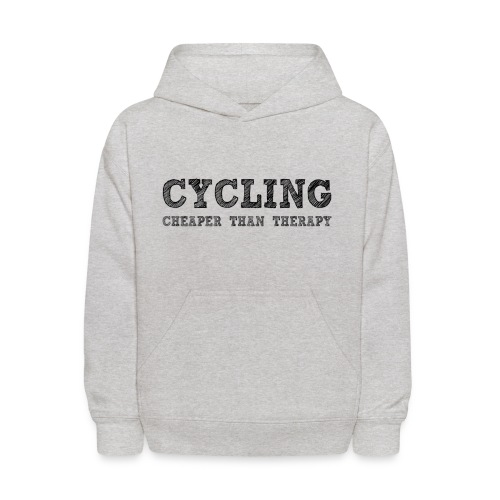 Cycling - Cheaper Than Therapy - Kids' Hoodie