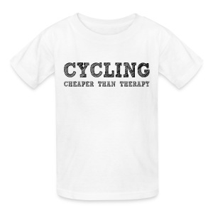 Cycling - Cheaper Than Therapy - Kids' T-Shirt