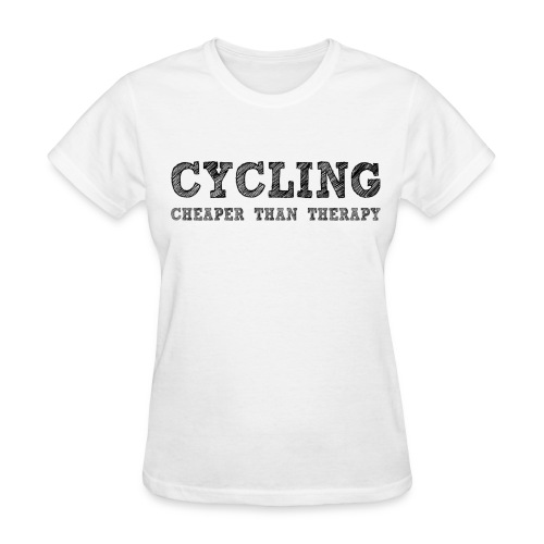 Cycling - Cheaper Than Therapy - Women's T-Shirt