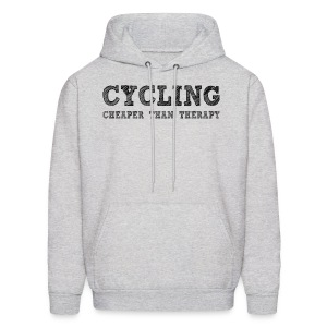 Cycling - Cheaper Than Therapy - Men's Hoodie