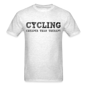 Cycling - Cheaper Than Therapy - Men's T-Shirt