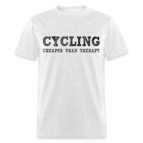 Cycling - Cheaper Than Therapy - Men's T-Shirt