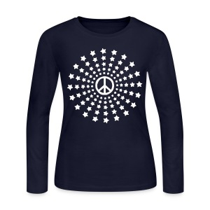 Peace Burst - dk Long Sleeve Shirts - Women's Long Sleeve Jersey T-Shirt