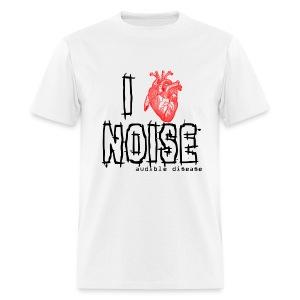 Audible Disease - I Heart Noise - Men's T-Shirt