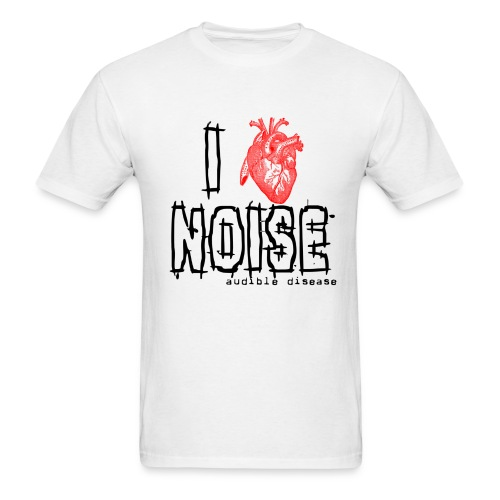 Audible Disease - I Heart Noise - Men's T-Shirt